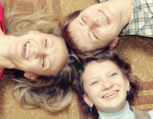 Three women are having fun