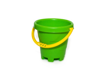 Toy bucket on a white background