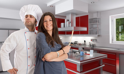 Cooking with a professional chef