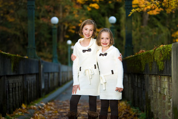 Two Girls in Fall