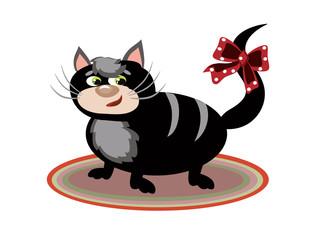 Black fat cat.