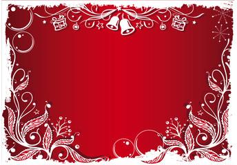 Weihnachten, Hintergrund, Stechpalme, rot, weiß