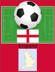 England soccer football world flag map
