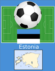 Estonia soccer football world flag map