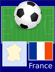 France soccer football world flag map