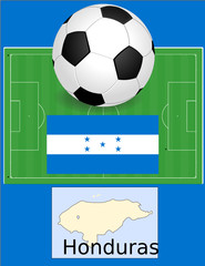 Honduras soccer football world flag map