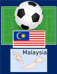 Malaysia soccer football world flag map