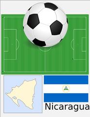 Nicaragua soccer football world flag map