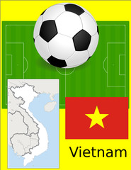 Vietnam soccer football world flag map
