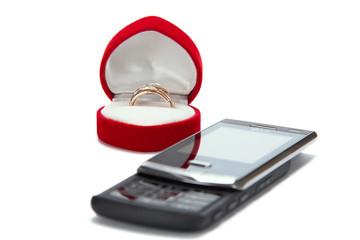 Wedding gift, on a white background