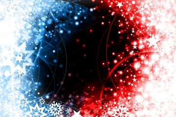 Blue red xmas design