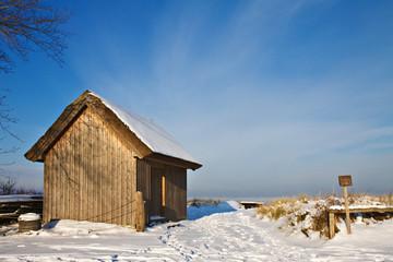 Winter an der Ostseeküste.