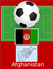 Afghanistan soccer football sport world flag map