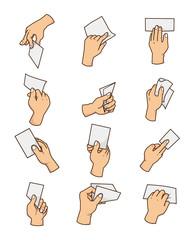 cartoon hand Card