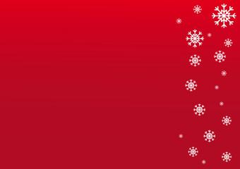 Schneeflocken auf rotem Hintergrund