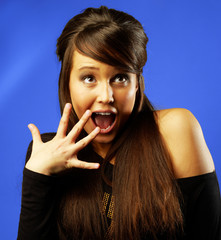Attractive Young Woman Surprised