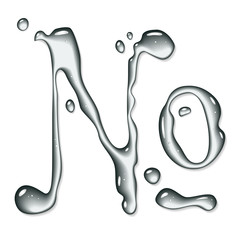 Vector water numero sign - water font