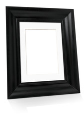 Black empty picture frame
