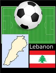Lebanon soccer football sport world flag map