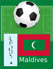 Maldives soccer football sport world flag map
