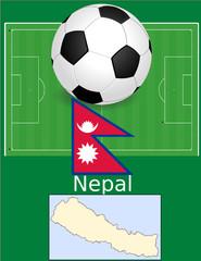 Nepal soccer football sport world flag map