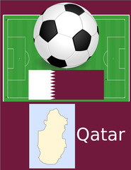 Qatar soccer football sport world flag map