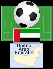 UAE United Arab Emirates soccer football sport flag map