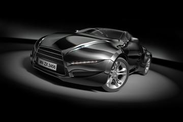 Black sports car