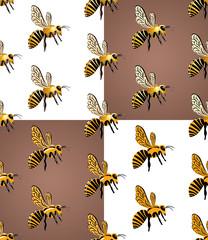 пчелиный рой, бесшовный узор