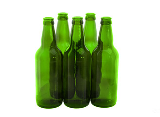 bottles for beer isolated