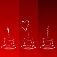 coffee cup line illustration