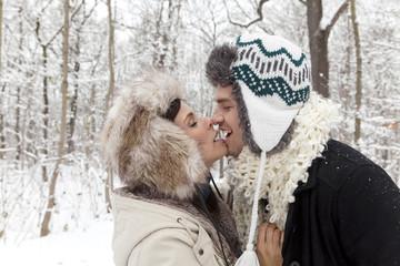kuss im winter