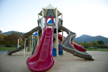 octopus slide at playground
