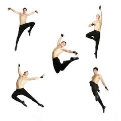 acrobat dancer over white