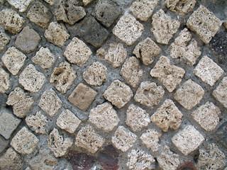 Old stone pavement