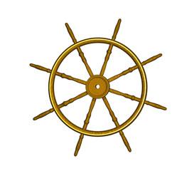 vintage ships wheel
