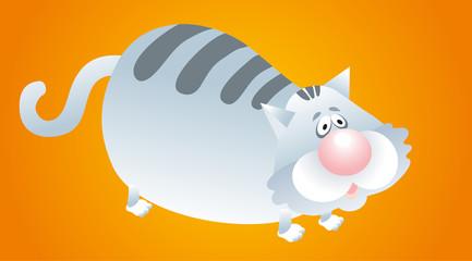 vector illustration - big cat