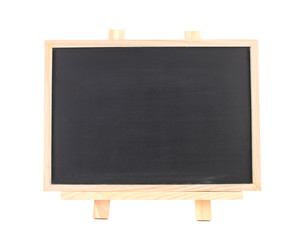 Isolated blank blackboard on wooden framework