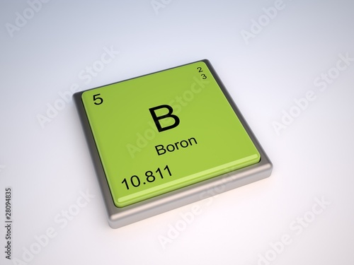 Boron Chemical Element Of Periodic Table With Symbol B Stock Photo