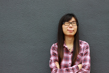 Chinese girl with weird face