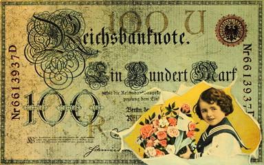 Postkarte Reichsbanknote von 1920