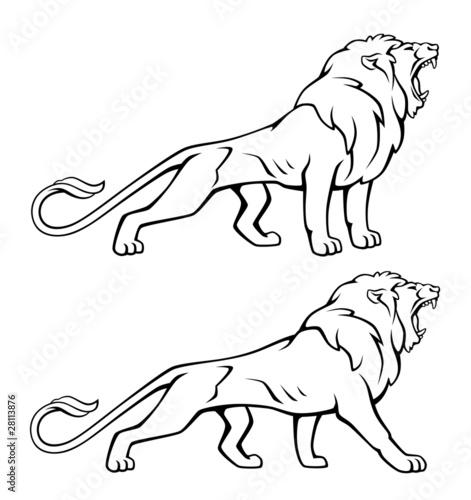 lion fichier vectoriel libre de droits sur la banque d 39 images image 28113876. Black Bedroom Furniture Sets. Home Design Ideas