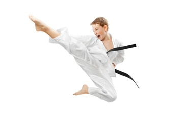 Photo sur Plexiglas Combat Martial arts boy