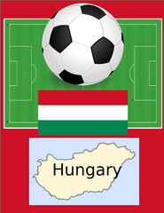 Hungary soccer football sport world flag map