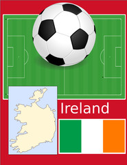 Ireland soccer football sport world flag map