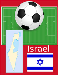 Israel soccer football sport world flag map