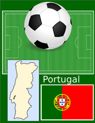 Portugal soccer football sport world flag map