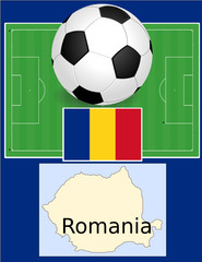 Romania soccer football sport world flag map