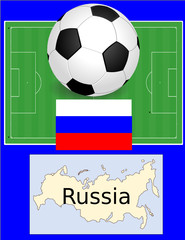 Russia soccer football sport world flag map