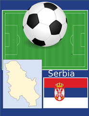 Serbia soccer football sport world flag map